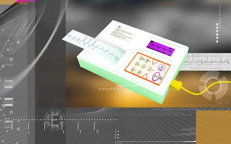 Digital illustration of  ECG in  colour  background Banco de Imagens - 59996608