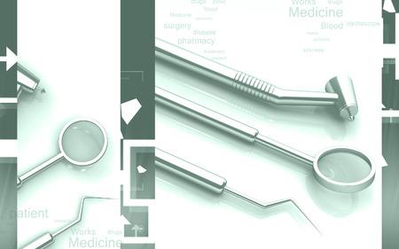 Digital illustration of  Dental equipment in colour background Banco de Imagens - 62966659
