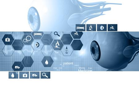Digital illustration of  eye   in  colour  background Banco de Imagens - 62970002