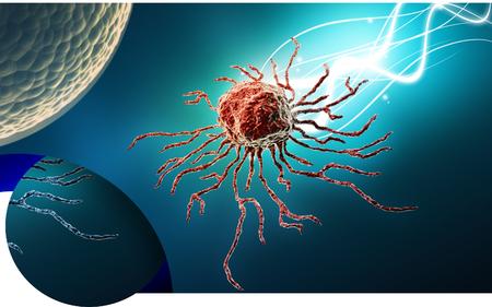 Digital illustration  of stem cell in   colour background Banco de Imagens - 63573534