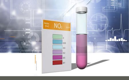 Digital illustration of nitrite test in colour background Banco de Imagens - 63573536