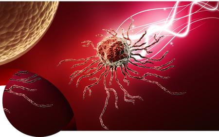 Digital illustration  of stem cell in   colour background Banco de Imagens - 63573543