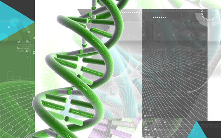 Digital illustration DNA structure in colour background Banco de Imagens - 63573544