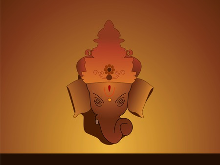 Hindu God ganesha with crown Illustration