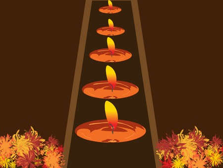illustration of arranged candles in a row Stock Vector - 3351749