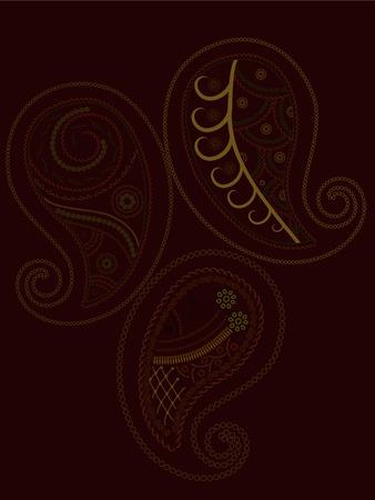 Henna background Vector