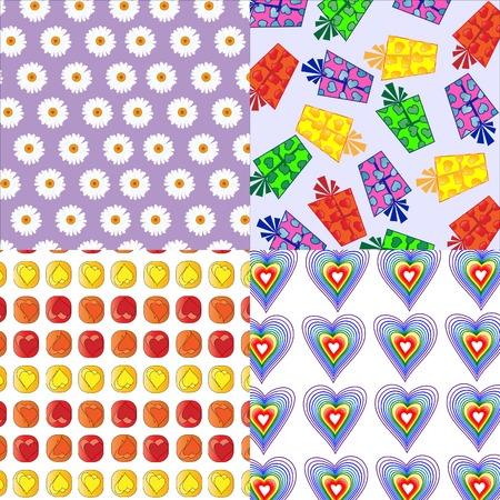 cute love-chic wallpaper Stock Vector - 3885956
