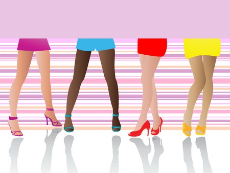 Sexy Legs and high Heels Vector