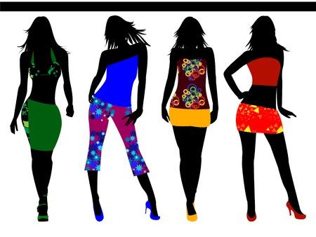 fashion girls Vector
