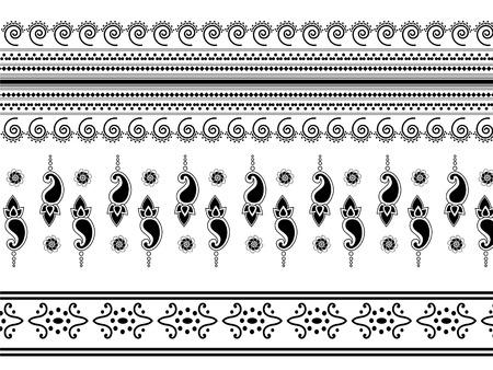 henna: Indian art inspired henna borders