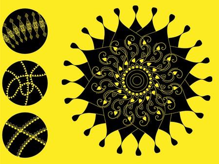 inspired: Detailed Henna art Inspired Mandala Illustration