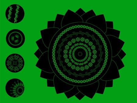 Detailed Henna art Inspired Mandala Vector