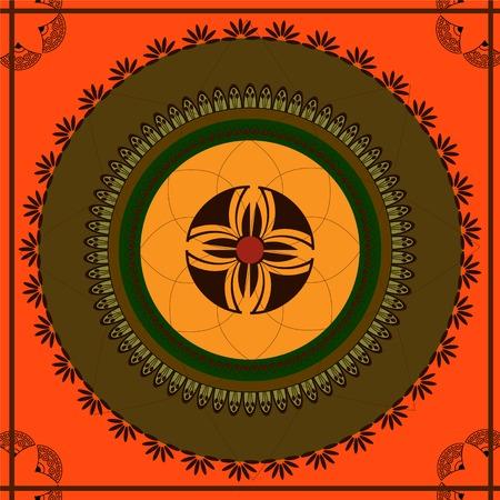 Henna inspired background(tile) Vector