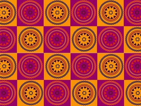 abstract henna blocks Stock Vector - 4819946