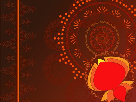 Henna Abstract lotus background