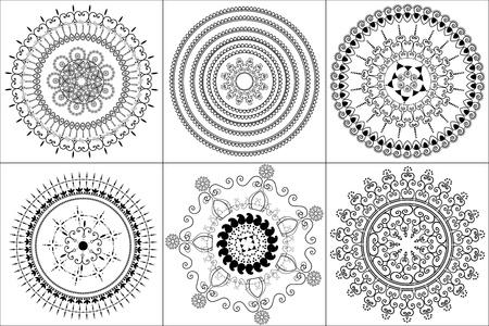 Detailed Henna Mandala design Vector