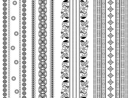 Henna border design Stock Vector - 9180029