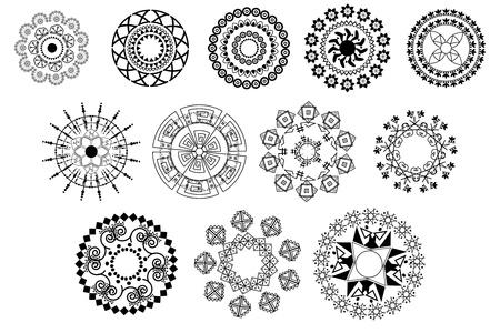 曼陀羅: ヘナのマンダラ デザイン