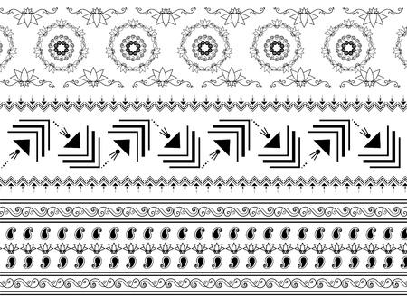 Henna border design Stock Vector - 9180035