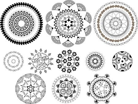 Henna Mandala design Stock Vector - 9180033