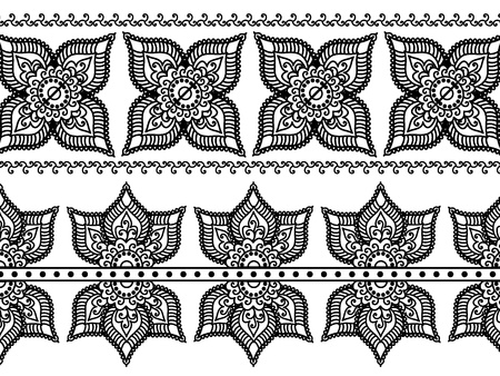 Detail Henna Inspired Border designs Stock Vector - 9180043