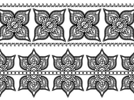 inspired: Detail Henna Inspired Border designs Illustration