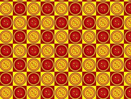 Henna inspired Pattern background Vector