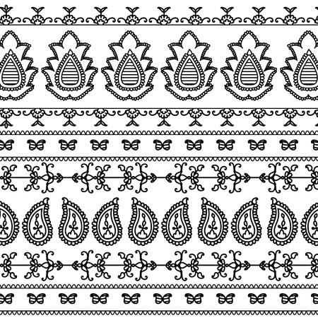 Detail Henna Inspired Border designs Vector