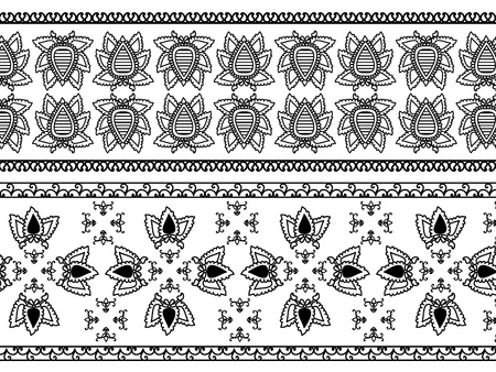 Detail Henna Inspired Border designs Stock Vector - 9180044