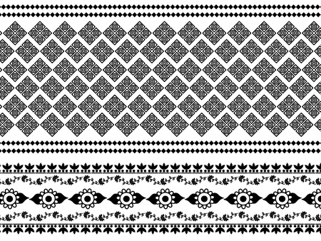 Detail Henna Inspired Border designs Vector