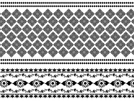 Detail Henna Inspired Border designs Stock Vector - 9180038