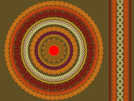 matching: Mandala design with matching border