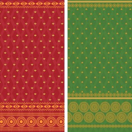 sari: Fronteras de Sari indio, muy detallada y f�cilmente editables