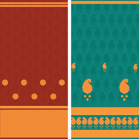 sari: Indian Sari Borders, very detailed and easily editable