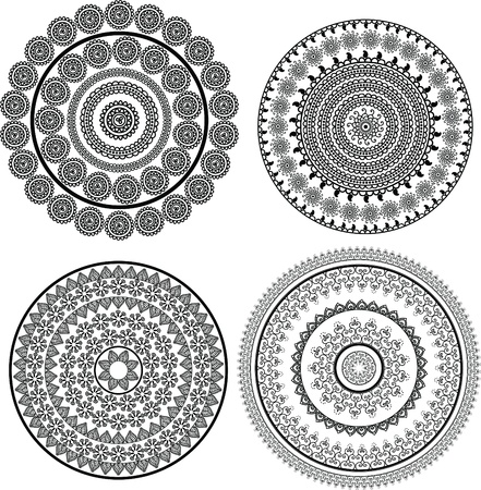Henna mandala Design,very elaborate and easily editable Stock Vector - 9883398