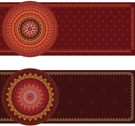 elaborate: Henna Mandala Banners, very elaborate and easily editable