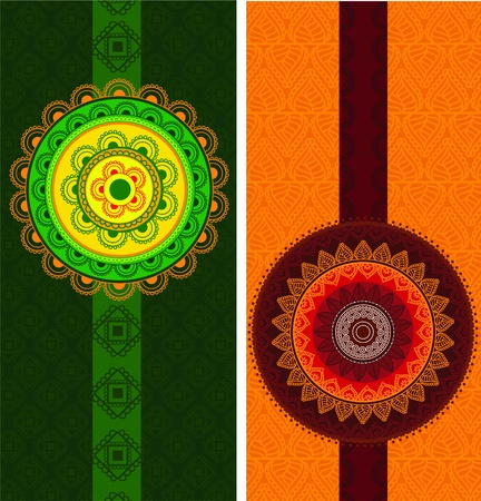 easily: Detailed and Colorful Henna mandala Designs, Easily editable