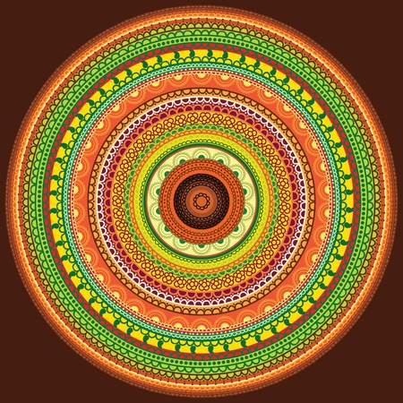 Colorful Henna mandala design Stock Vector - 10282772