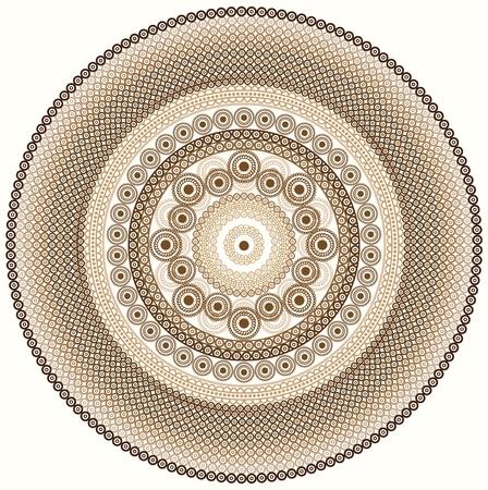 曼陀羅: カラフルなヘナ マンダラ デザイン  イラスト・ベクター素材