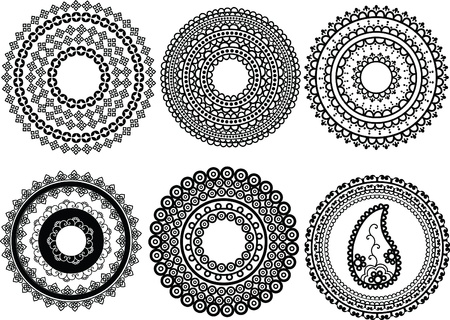 Detailed Henna mandala design Vector
