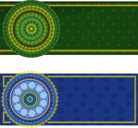 Detailed Henna mandala Banner Design Stock Vector - 10282777