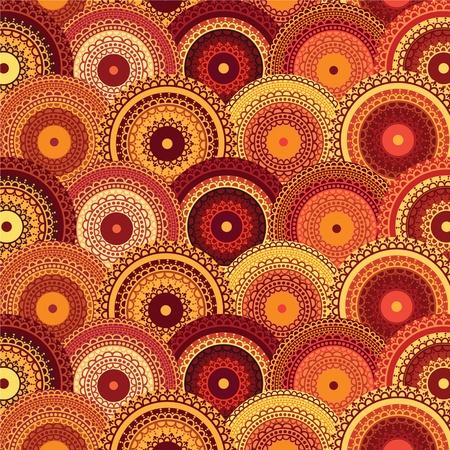 Henna Mandala Block design - Very elaborate and easily editable Stock Vector - 10607181