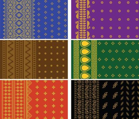 sari: India Sari Fronteras, detallada y f�cilmente editable.