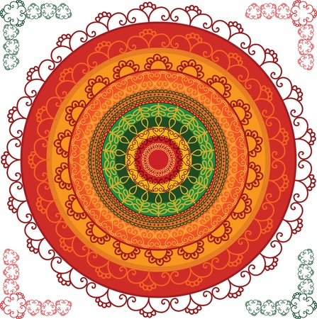 Detailed and colourful Mandala Design Vector
