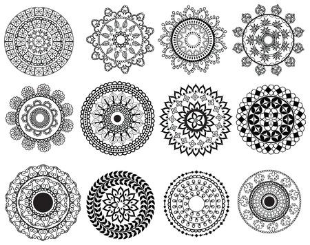 Henna Mandala Desgins Illustration