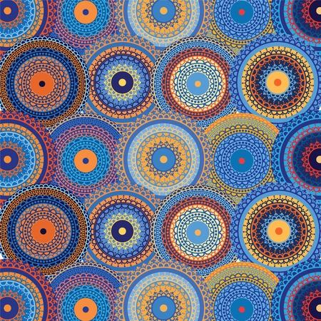 Henné mandala de fond (série bleue)