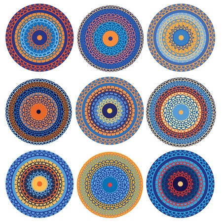 Henna Mandala Designs Vector