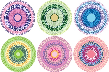 Henna Mandala in pastel colours Vector