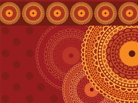 Colourful Henna Mandala Background Stock Vector - 11095144