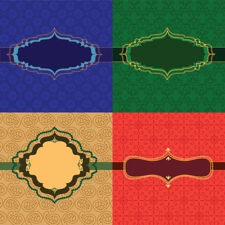 motive: Bunte Henna-Frames auf Muster